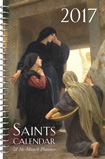 Saints Calendar & 16 Month Daily Planner Spiral Bound